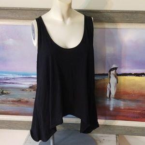 3/$12❤ARIZONA Crochet Lace Back Sharkbite Tank